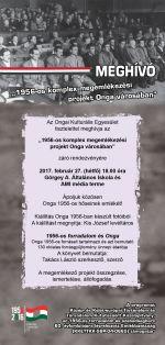 1956-os komplex megemlékezési projekt Onga városában!