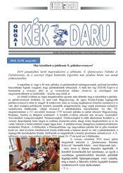 Kép az Ongai Kékdaru címoldaláról